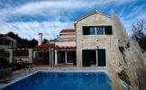 Modern stone villa with pool