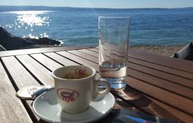 coffee time during vacation in dalmatia